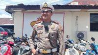 Kepala satlantas Polresta Pulau Ambon dan Pulau-Pulau Lease. AKP Ganesha Sinambela