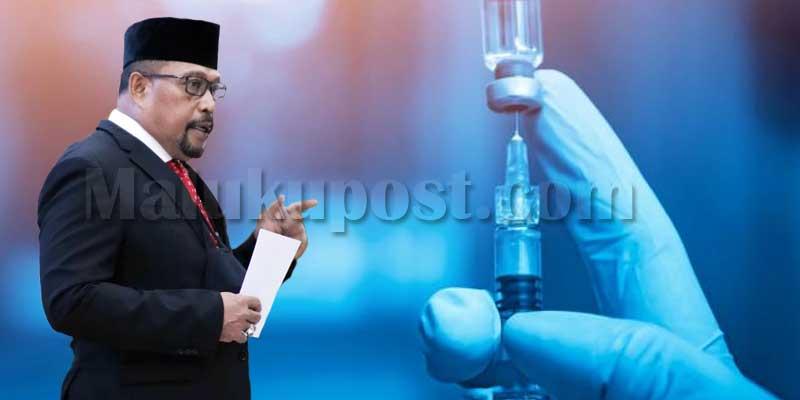 Gubernur Maluku siap divaksin