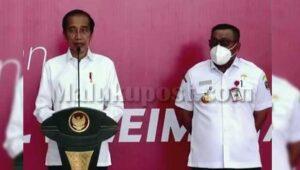 Presiden RI, Joko Widodo bersama Gubernur Maluku, Murad Ismail