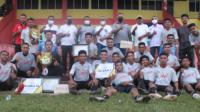 Klub Dolorosa FC Langgur usai memenangkan babak final Liga Persahabatan Dolorosa II di Stadion Maren Langgur, Sabtu (17/4) (foto mas belekubun)