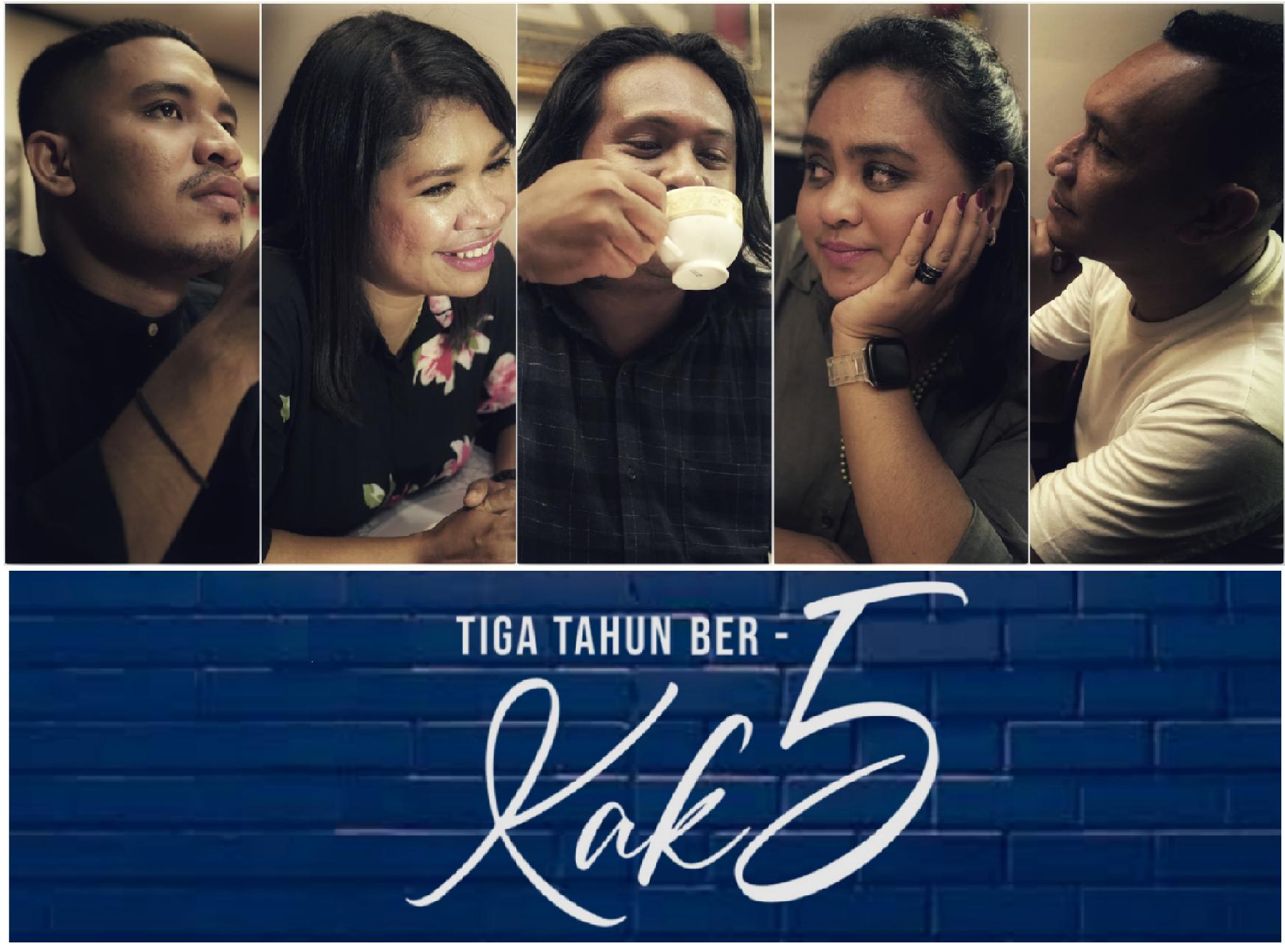 Personil KAK5 dari kiri ke kanan Gideon Beffers, Margi Sipahelut, Figgy Papilaya, Marionie Serhalawan, dan Falantino Latupapua. (foto kak5)
