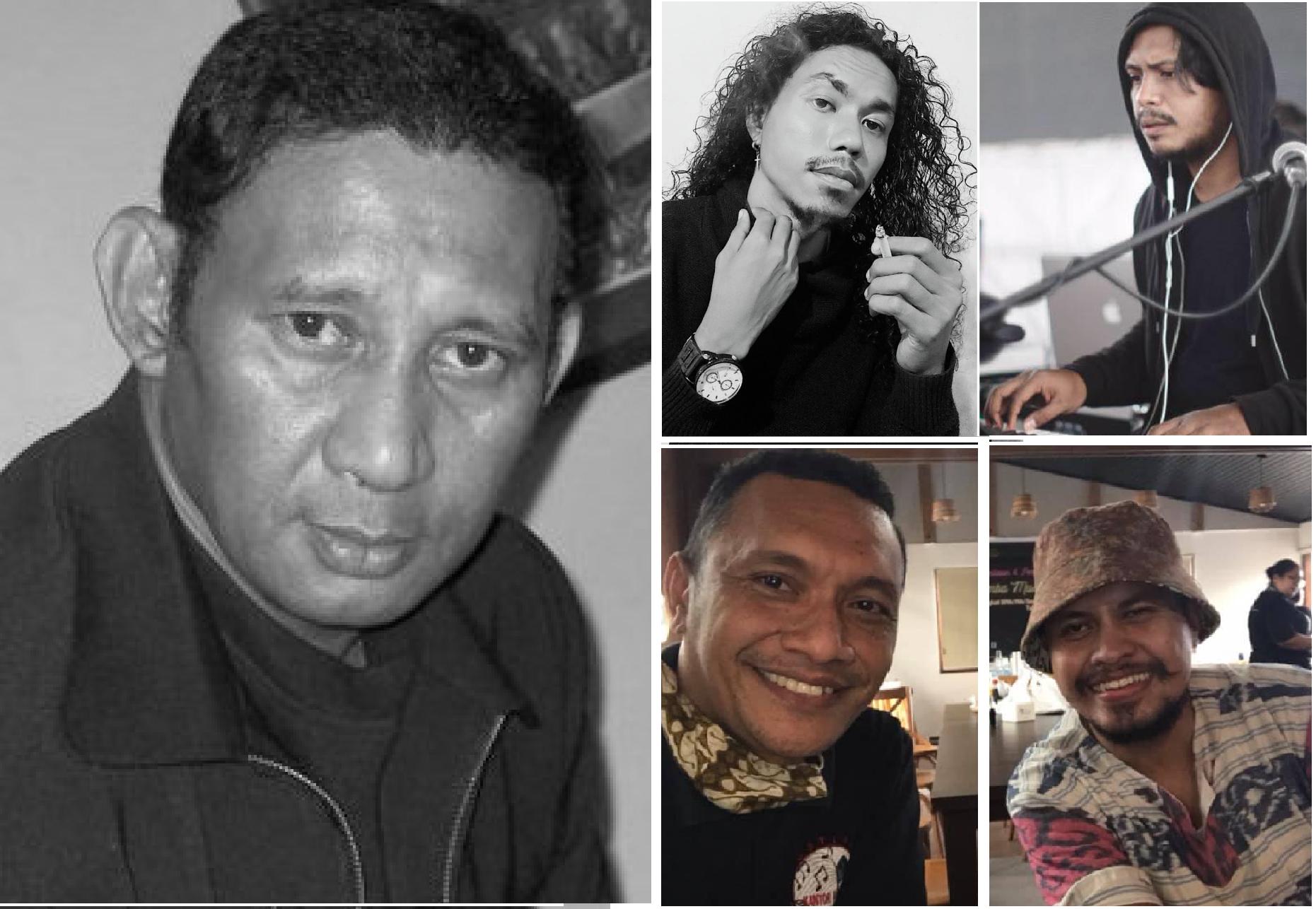 Lima komponis Maluku yang berjaya tahun ini di ajang lomba cipta lagu Pesparawi Nasional: Godlief Soumokil, Henry Marvin Sopaheluwakan, Figgy Papilaya, Falantino Latupapua, dan Igor Sopamena (fofo fb)
